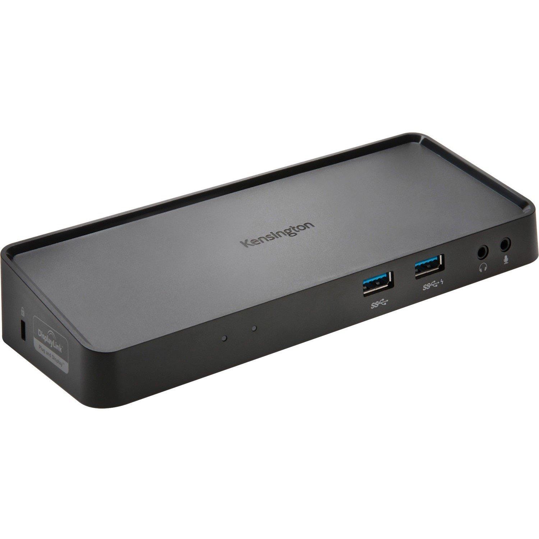 Kensington SD3650 USB 3.0 Docking Station for Notebook/Desktop PC - Black