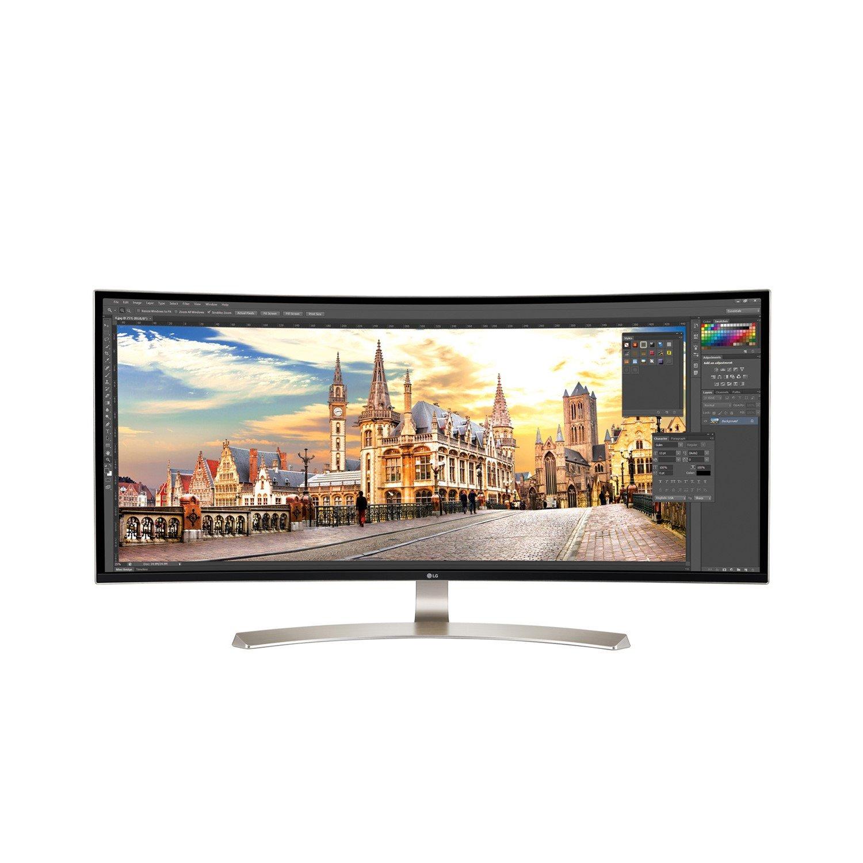 """LG Ultrawide 38UC99-W 95.3 cm (37.5"""") WQHD+ Curved Screen LED Gaming LCD Monitor - 21:9 - Black"""