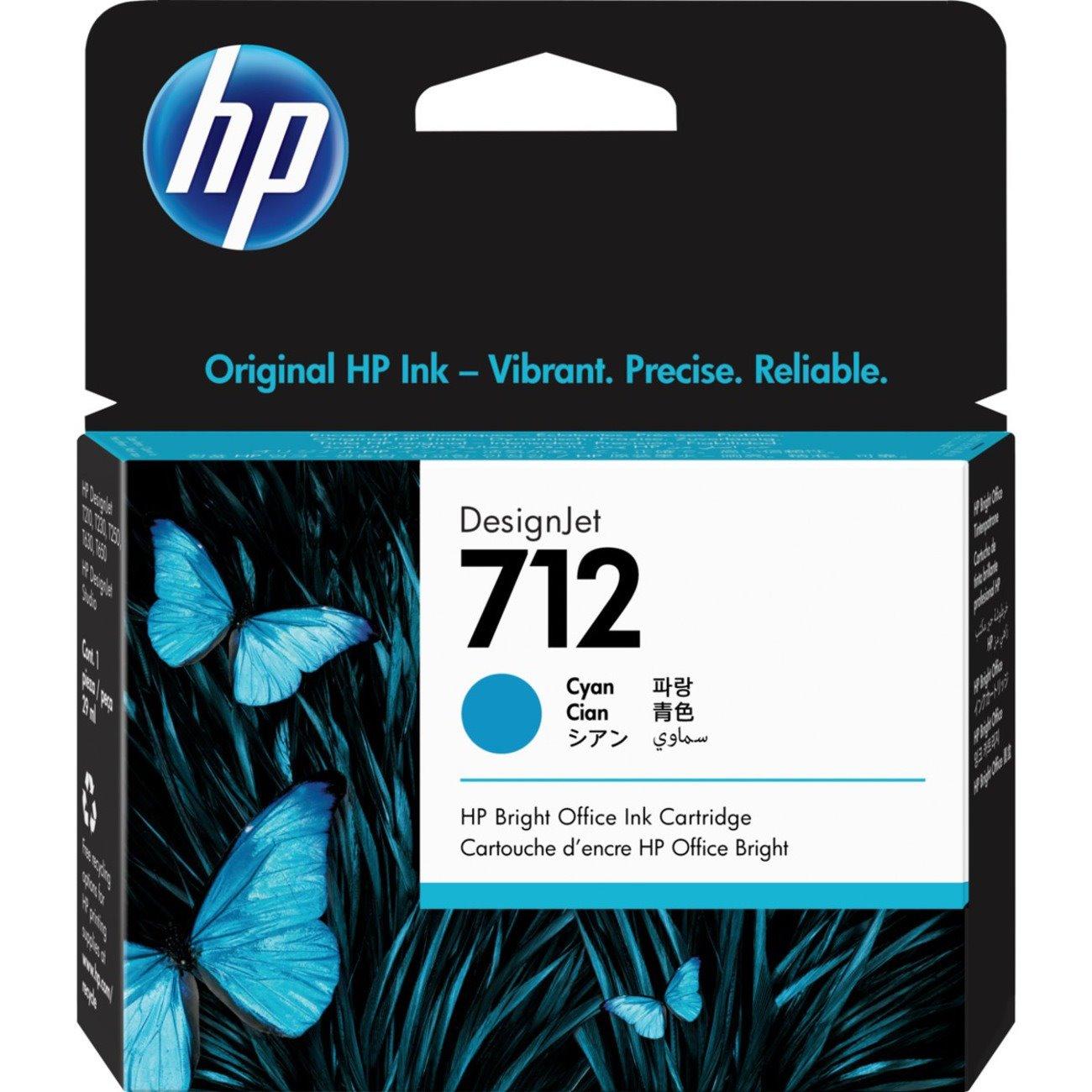 HP 712 Original Ink Cartridge - Cyan