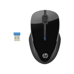 HP 250 Mouse - Wireless - 3 Button(s) - Black
