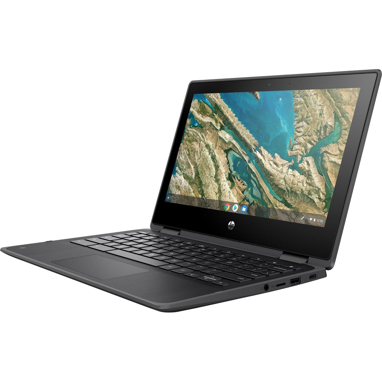 "HP Chromebook x360 11 G3 EE 29.5 cm (11.6"") Touchscreen 2 in 1 Chromebook - HD - 1366 x 768 - Intel Celeron N4020 Dual-core (2 Core) 1.10 GHz - 8 GB RAM - 64 GB Flash Memory - Chalkboard Gray"