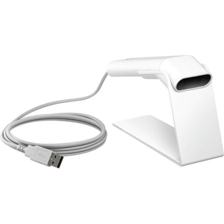 HP ElitePOS Handheld Barcode Scanner - Cable Connectivity - Ceramic White