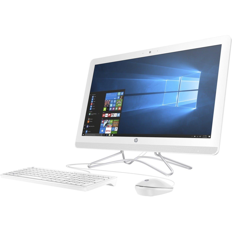 """HP 24-f0000 24-f0035a All-in-One Computer - AMD A-Series A6-9225 2.60 GHz - 4 GB RAM DDR4 SDRAM - 1 TB HDD - 60.5 cm (23.8"""") 1920 x 1080 - Desktop - Snow White"""