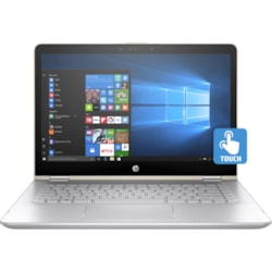"HP Pavilion x360 14-ba100 14-ba130tu 35.6 cm (14"") Touchscreen LCD 2 in 1 Notebook - Intel Core i5 i5-8250U Quad-core (4 Core) 1.60 GHz - 8 GB DDR4 SDRAM - 128 GB SSD - Windows 10 Home 64-bit - 1366 x 768 - Convertible"