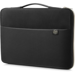 "HP Carrying Case (Sleeve) for 39.6 cm (15.6"") Notebook - Black, Gold"
