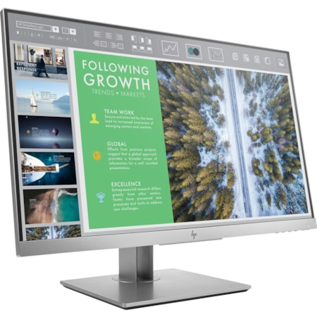"HP E243 60.5 cm (23.8"") Full HD Edge LED LCD Monitor - 16:9 - Silver, Black"