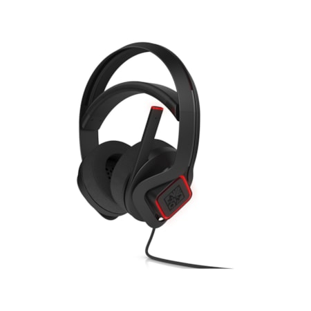 HP Omen X Wired Stereo Headset - Over-the-head - Circumaural - Black/Red