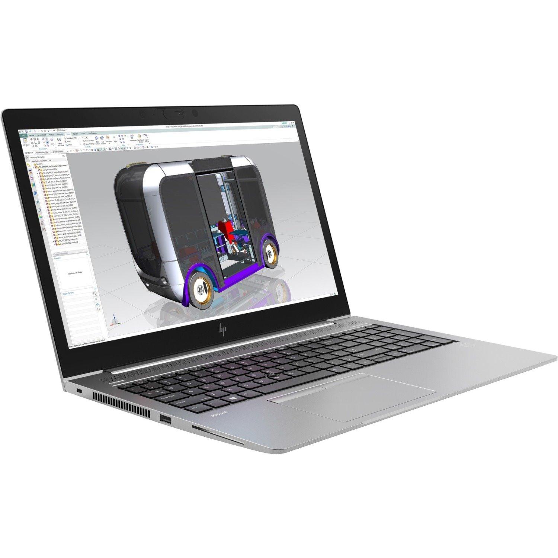 "HP ZBook 15u G5 39.6 cm (15.6"") LCD Mobile Workstation - Intel Core i5 (8th Gen) i5-8350U Quad-core (4 Core) 1.70 GHz - 16 GB DDR4 SDRAM - 256 GB SSD - Windows 10 Pro 64-bit - 1920 x 1080 - In-plane Switching (IPS) Technology - Turbo Silver"