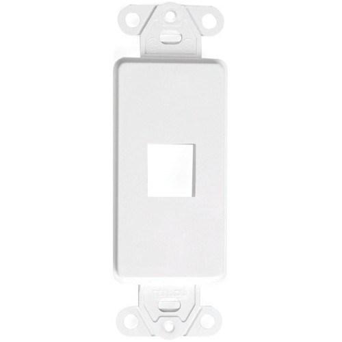 Decora QuickPort Faceplate Insert - White