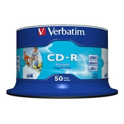 Verbatim CD Recordable Media - CD-R - 52x - 700 MB - 50 Pack Spindle