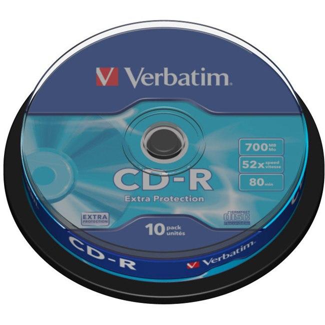 Verbatim 43437 CD Recordable Media - CD-R - 52x - 700 MB - 10 Pack Spindle