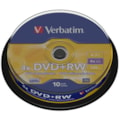 Verbatim 43488 DVD Rewritable Media - DVD+RW - 4x - 4.70 GB - 10 Pack Spindle