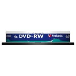 Verbatim DataLifePlus 43552 DVD Rewritable Media - DVD-RW - 4x - 4.70 GB - 10 Pack Spindle