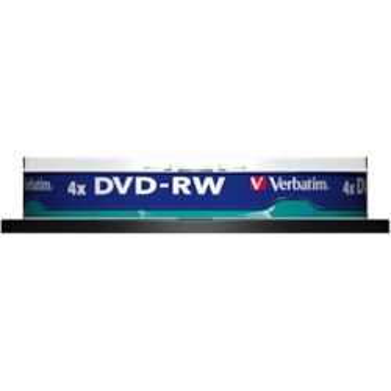 Verbatim DataLifePlus 43552 DVD Rewritable Media - DVD-RW - 4x - 4.70 GB - 10 Pack Spindle