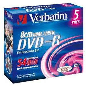 Verbatim 43631 DVD Recordable Media - DVD-R DL - 4x - 2.60 GB - 5 Pack Jewel Case
