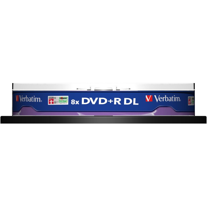 Verbatim 43666 DVD Recordable Media - DVD+R DL - 8x - 8.50 GB - 10 Pack Spindle