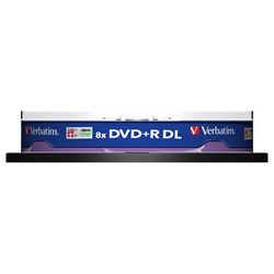 Verbatim 43666 DVD Recordable Media - DVD+R DL - 8x - 8.50 GB - 10 Pack Spindle