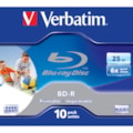 Verbatim 43713 Blu-ray Recordable Media - BD-R - 6x - 25 GB - 10 Pack Jewel Case