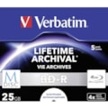 Verbatim Blu-ray Recordable Media - BD-R - 4x - 25 GB - 5 Pack Jewel Case