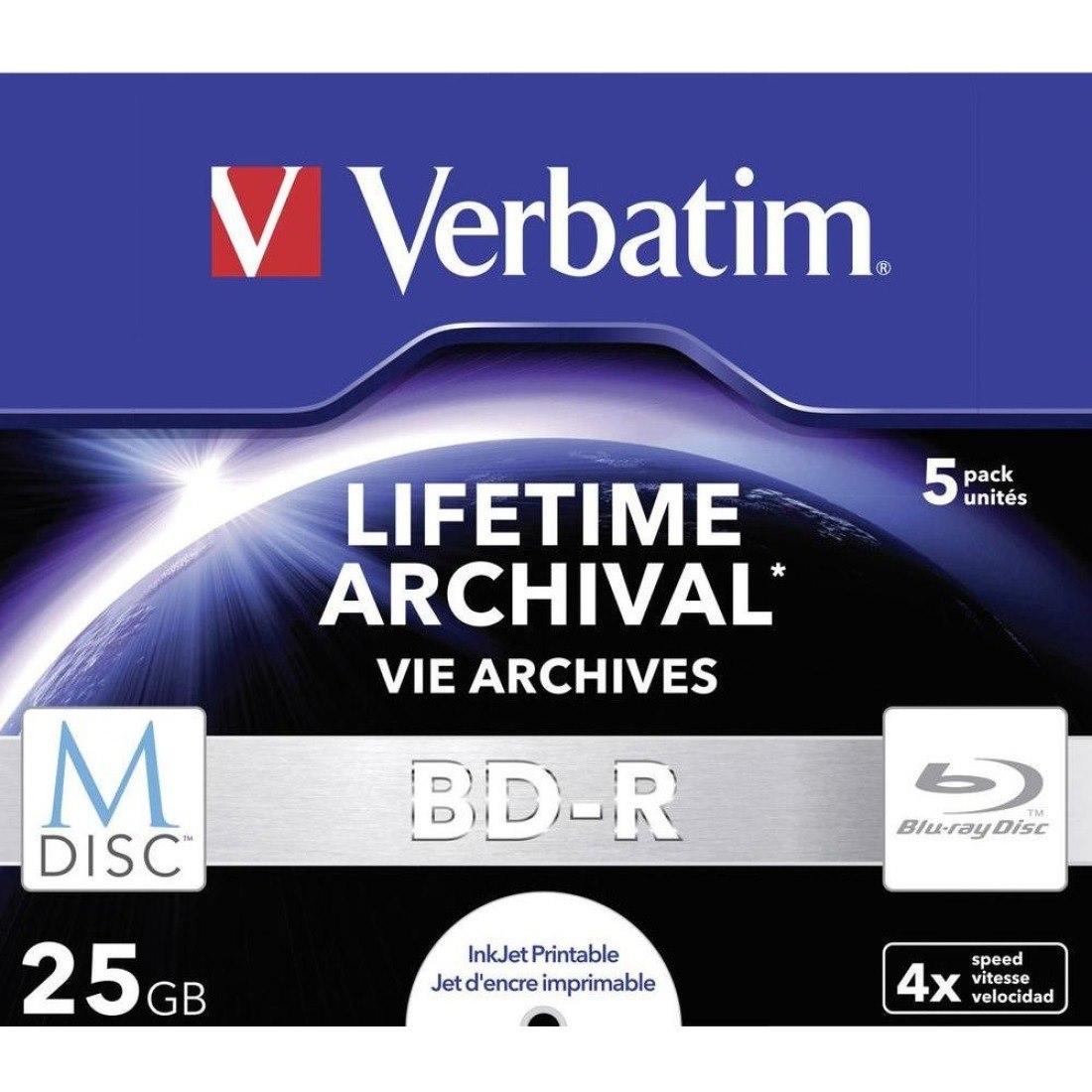 Verbatim Blu-ray Recordable Media - BD-R - 4x - 25 GB - 5 Pack Jewel Case