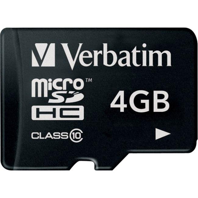 Verbatim 44011 4 GB Class 10 microSDHC