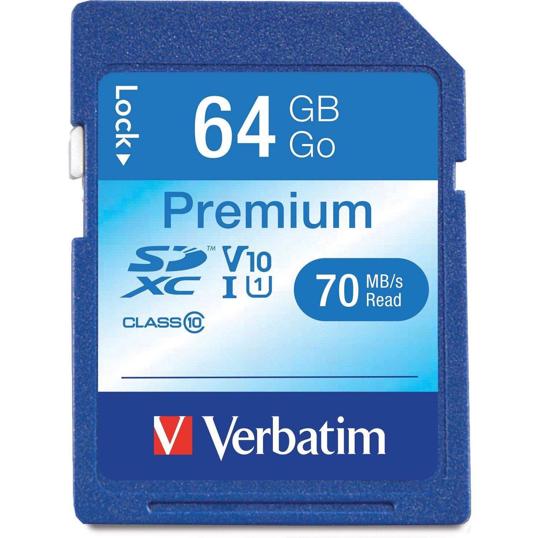 Verbatim Premium 64 GB SDXC - TAA Compliant