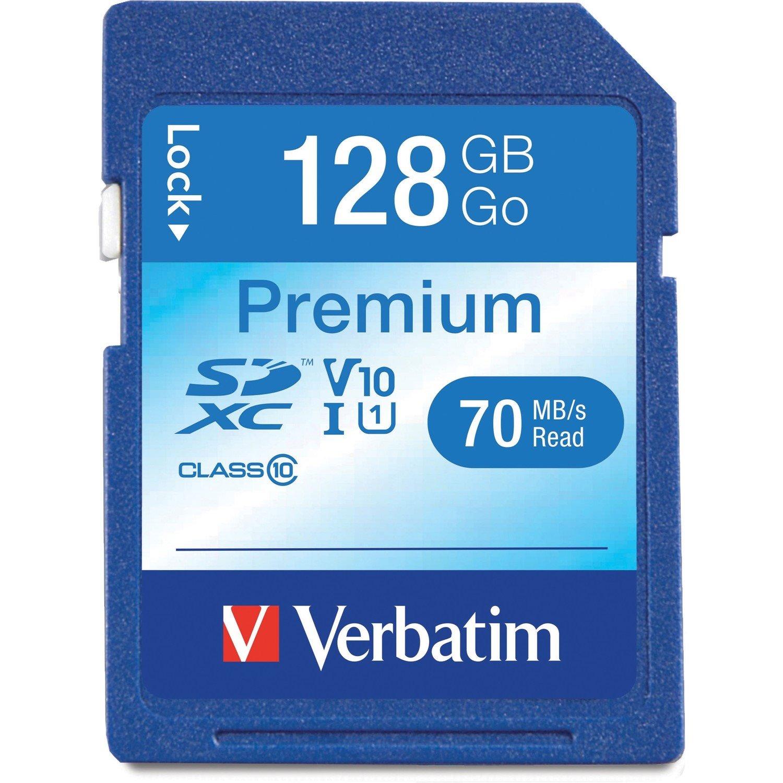 Verbatim Premium 128 GB Class 10/UHS-I (U1) SDXC - TAA Compliant