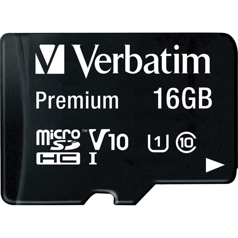 Verbatim 16 GB Class 10/UHS-I (U1) microSDHC - TAA Compliant