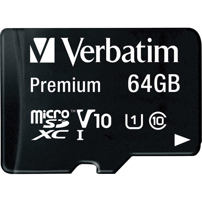 Verbatim 64 GB Class 10/UHS-I (U1) microSDXC - TAA Compliant