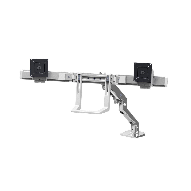 Ergotron Mounting Arm for Monitor, TV - Polished Aluminum