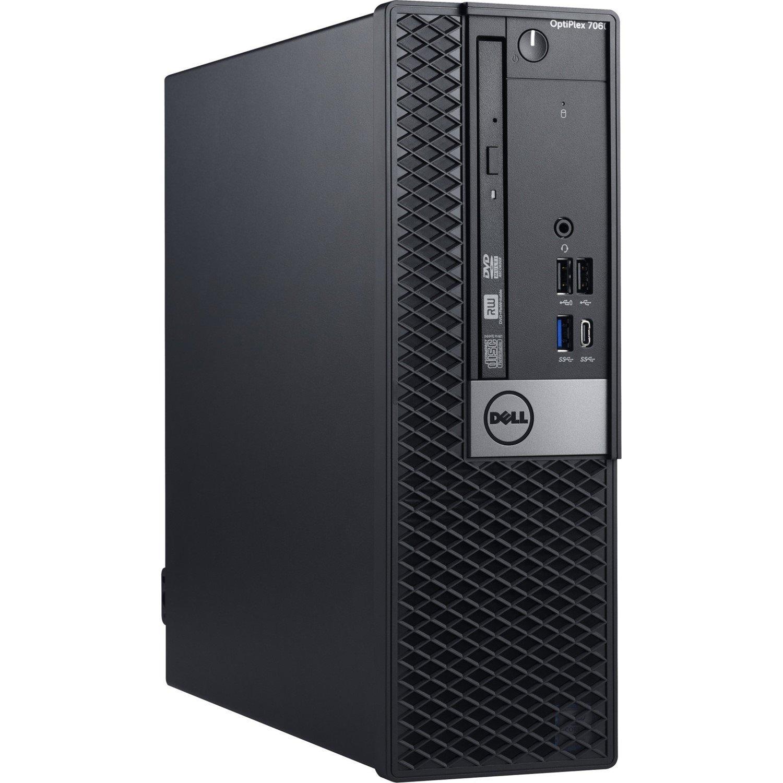 Dell OptiPlex 7000 7060 Desktop Computer - Intel Core i7 (8th Gen) i7-8700 - 8 GB DDR4 SDRAM - 256 GB SSD - Windows 10 Pro 64-bit (English) - Small Form Factor