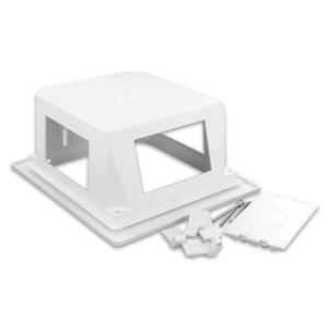 Leviton 47617-REB Mounting Box - Plastic - White
