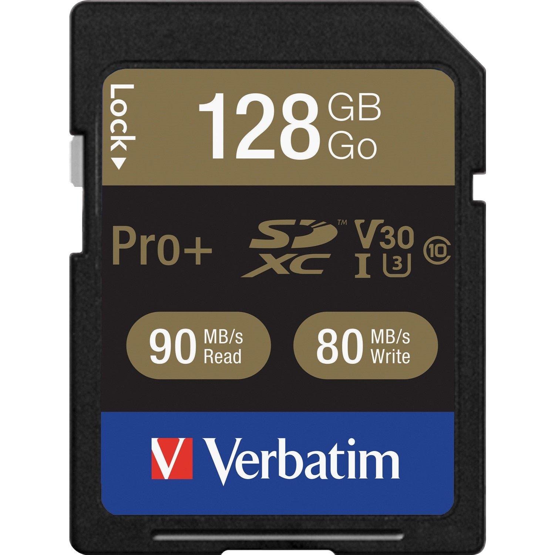 Verbatim Pro+ SDXC Uhs-I 128GB U3 Memory Card
