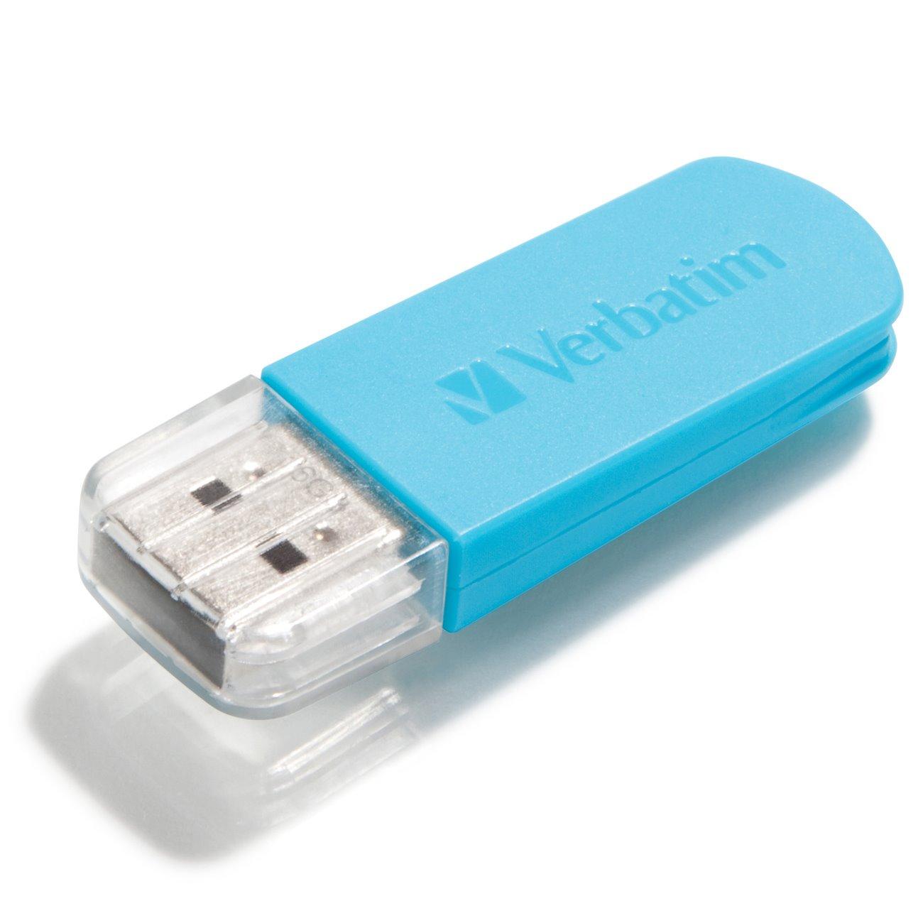 Verbatim Store 'n' Go Mini 16 GB USB 2.0 Flash Drive - Caribbean Blue