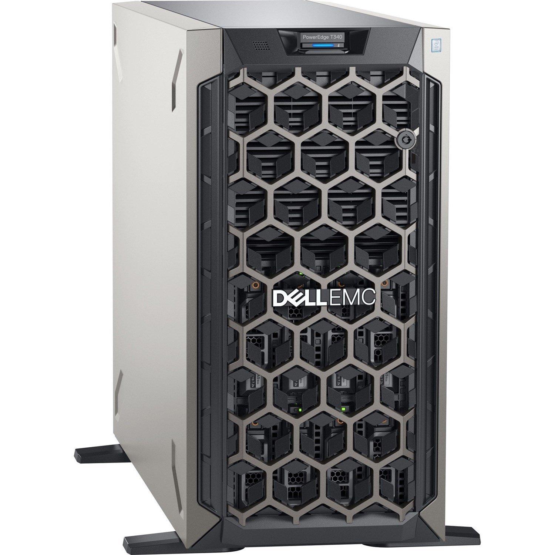Dell EMC PowerEdge T340 5U Tower Server - 1 x Xeon E-2224 - 16 GB RAM - 1 TB (1 x 1 TB) HDD - Serial ATA, 12Gb/s SAS Controller