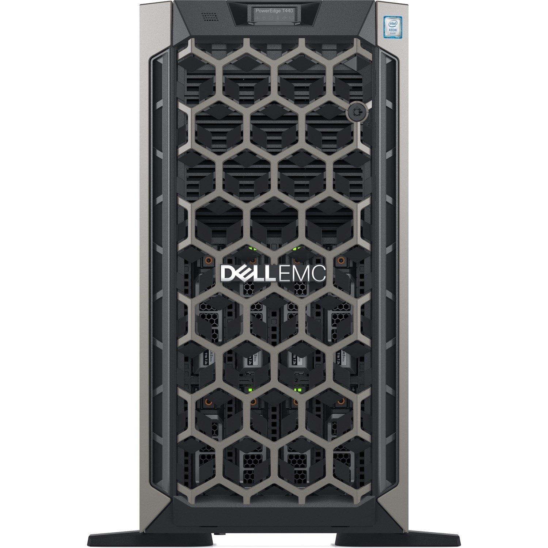 Dell EMC PowerEdge T440 5U Tower Server - 1 x Xeon Silver 4208 - 16 GB RAM - 1 TB (1 x 1 TB) HDD - 12Gb/s SAS, Serial ATA Controller
