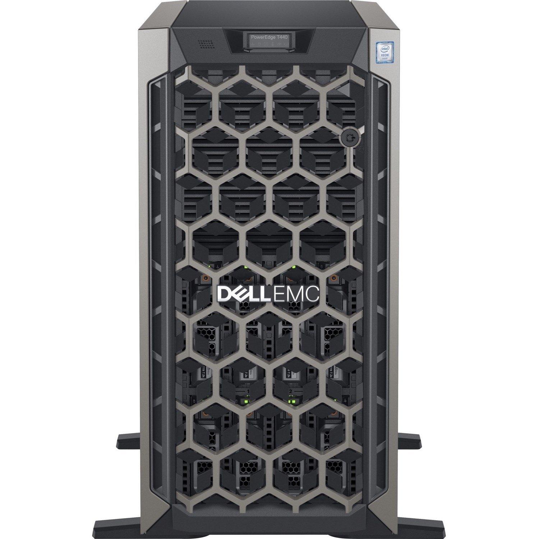Dell EMC PowerEdge T440 5U Tower Server - 1 x Xeon Silver 4210 - 16 GB RAM - 1 TB (1 x 1 TB) HDD - 12Gb/s SAS, Serial ATA/600 Controller