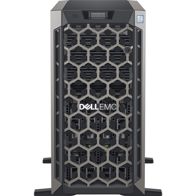 Dell EMC PowerEdge T440 5U Tower Server - 1 x Intel Xeon Bronze 3106 Octa-core (8 Core) 1.70 GHz - 16 GB Installed DDR4 SDRAM - 1 TB (1 x 1 TB) Serial ATA/600 HDD - 12Gb/s SAS, Serial ATA/600 Controller - 1 x 495 W