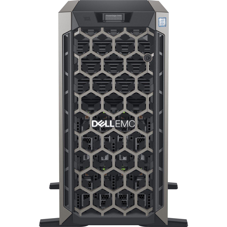 Dell EMC PowerEdge T440 5U Tower Server - 1 x Intel Xeon Silver 4110 Octa-core (8 Core) 2.10 GHz - 16 GB Installed DDR4 SDRAM - 1 TB (1 x 1 TB) Serial ATA/600 HDD - 12Gb/s SAS, Serial ATA/600 Controller - 1 x 495 W