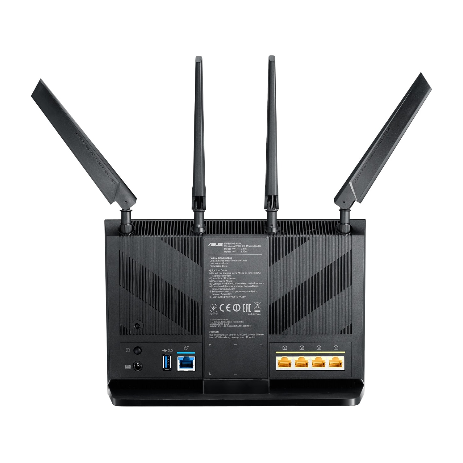 Buy Asus 4G-AC68U IEEE 802.11ac Ethernet, Cellular Wireless Router ...