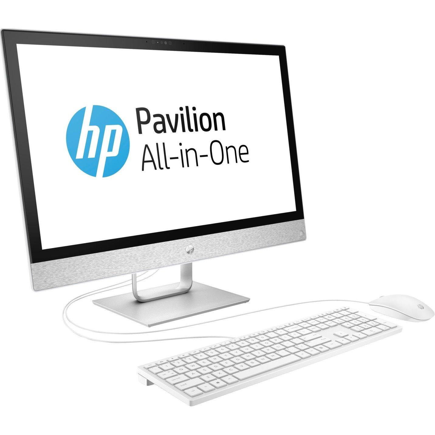 "HP Pavilion 24-r100 24-r159a All-in-One Computer - Intel Core i5 i5-8400T 1.70 GHz - 8 GB DDR4 SDRAM - 1 TB HDD - 60.5 cm (23.8"") 1920 x 1080 Touchscreen Display - Windows 10 Home 64-bit - Desktop"