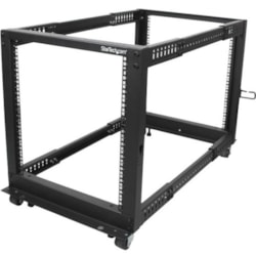 StarTech.com 12U Floor Standing Rack Cabinet for Server, LAN Switch, A/V Equipment, Patch Panel, KVM Switch - 464.82 mm Rack Width x 1016 mm Rack Depth - Black
