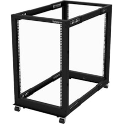 StarTech.com 18U Floor Standing Rack Frame for Server, KVM Switch, LAN Switch, Patch Panel, A/V Equipment - 482.60 mm Rack Width x 1023.62 mm Rack Depth - Black