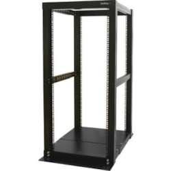 StarTech.com 25U Rack Frame - 584.20 mm Rack Width x 998.22 mm Rack Depth - Black - TAA Compliant
