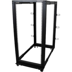 StarTech.com 25U High x 464.82 mm Wide x 1016 mm Deep Rack Cabinet for Server, LAN Switch, A/V Equipment - Black