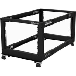 StarTech.com 8U Floor Standing Rack Frame for Server, KVM Switch, LAN Switch, Patch Panel, A/V Equipment - 482.60 mm Rack Width x 1023.62 mm Rack Depth - Black