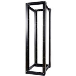 StarTech.com 45U Rack Frame - 482.60 mm Rack Width x 911.86 mm Rack Depth - Black - TAA Compliant