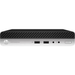 HP Business Desktop ProDesk 600 G4 Desktop Computer - Intel Core i5 (8th Gen) i5-8500T 2.10 GHz - 8 GB DDR4 SDRAM - 256 GB SSD - Windows 10 Pro - Desktop Mini
