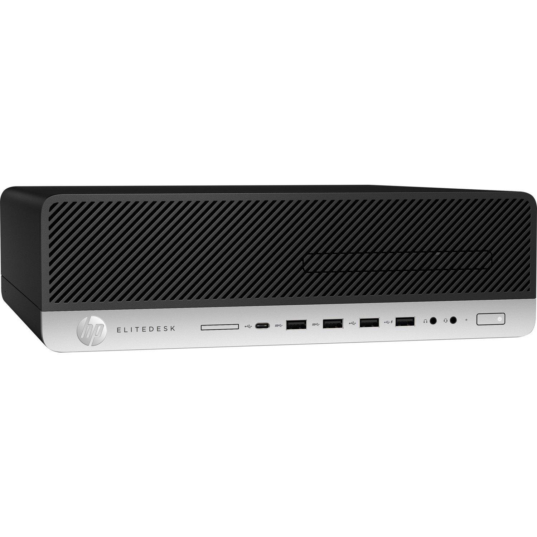 HP EliteDesk 800 G4 Desktop Computer - Intel Core i5 (8th Gen) i5-8500 3 GHz - 8 GB DDR4 SDRAM - 256 GB SSD - Windows 10 Pro 64-bit - Small Form Factor