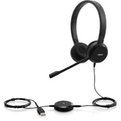 Lenovo Wired Over-the-head Stereo Headset - Black